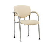 The office chair from beige leather.  Royalty Free Stock Photos