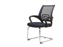 Office chair from black cloth isolated over white Royalty Free Stock Image