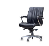 The office chair from black leather Royalty Free Stock Photography