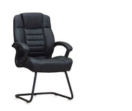 The office chair from black leather. Stock Photography