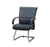 The office chair from black leather Royalty Free Stock Photos