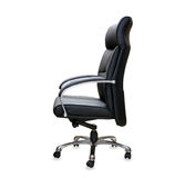 The office chair from black leather Royalty Free Stock Image