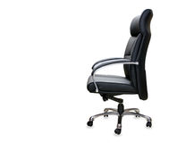 The office chair from black leather. Royalty Free Stock Photography