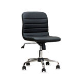 The office chair from black leather.  Stock Photos