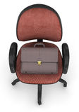 Office chair and briefcase Royalty Free Stock Photography