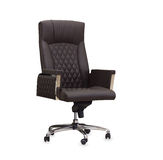 The office chair from brown leather Royalty Free Stock Images