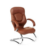 The office chair from brown leather Stock Images