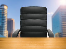 Office chair with cityscape background. 3d rendering office chair with cityscape background Stock Images