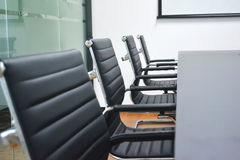 Office chair closeup. Closeup of chairs in a meeting room Stock Photos