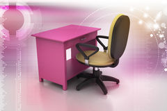 Office chair and computer table Royalty Free Stock Photography