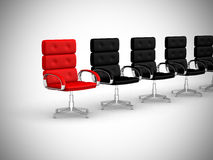 Office chair concept isolated on white background Stock Photos