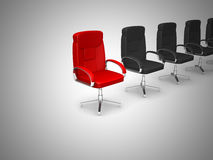 Office chair concept isolated on white background Stock Images