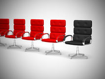 Office chair concept  on white background - 3d Royalty Free Stock Photography