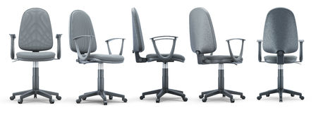 Office chair from different angles Royalty Free Stock Photo