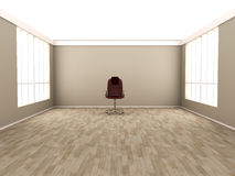 Office Chair in a empty room Stock Image