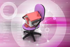 Office chair with home model Stock Photo