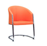The office chair from orange leather.  Royalty Free Stock Image