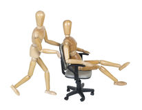 Office Chair Races Royalty Free Stock Image