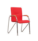 The office chair from red  leather. Isolated Royalty Free Stock Photos