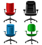 Office chair set. With different designs and colors Royalty Free Stock Photos