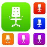 Office chair set color collection Stock Photos