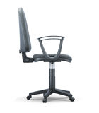 Office chair side view on a white Royalty Free Stock Image