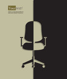 Office chair silhouette Royalty Free Stock Image