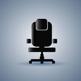 Office Chair Silhouette Empty Seat Furniture Isolated Royalty Free Stock Image
