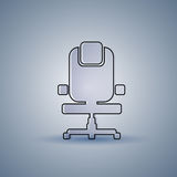 Office Chair Silhouette Empty Seat Furniture Isolated Stock Images