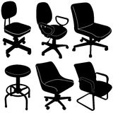 Office chair silhouette  vector Stock Images