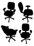 Office chair silhouettes Stock Photos