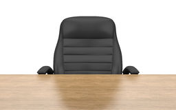 Office chair at table. Isolated with clipping path Royalty Free Stock Photo