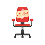 Office chair with vacancy advertisement Royalty Free Stock Photo