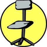 Office chair vector illustration. Vector illustration of an office chair Royalty Free Stock Photography