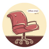 Office chair.Vector sketchy illustration Stock Photography