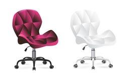 Office chair on wheels stock illustration