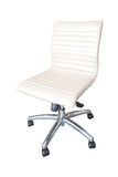 The office chair by white leather Isolated Stock Image