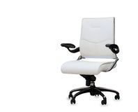 The office chair from white leather Stock Images