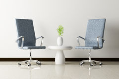 Office chair and white wall interior decorated Stock Photography