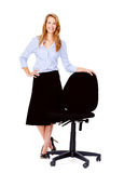 Office chair woman Stock Photography