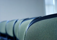 Office chairs. Business chairs in a row stock image