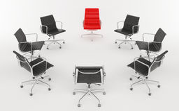 Office chairs as a circle Stock Photo