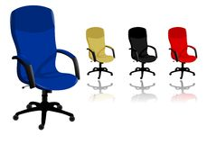 Office chairs, cdr vector Royalty Free Stock Image