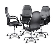 Office chairs having a meeting Royalty Free Stock Photography