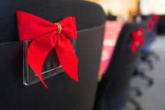 Office Chairs at Holiday Work Party Stock Image