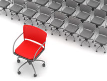 Office chairs - leadership concept Royalty Free Stock Photo