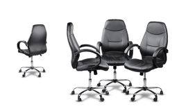 Office chairs meeting, one disagrees Royalty Free Stock Image