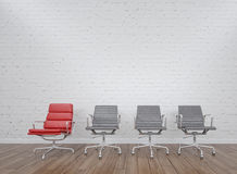 Office chairs in office Royalty Free Stock Photography