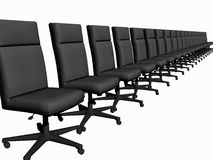 Office chairs over white. stock images