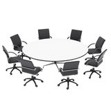 Office chairs and round table Royalty Free Stock Photo